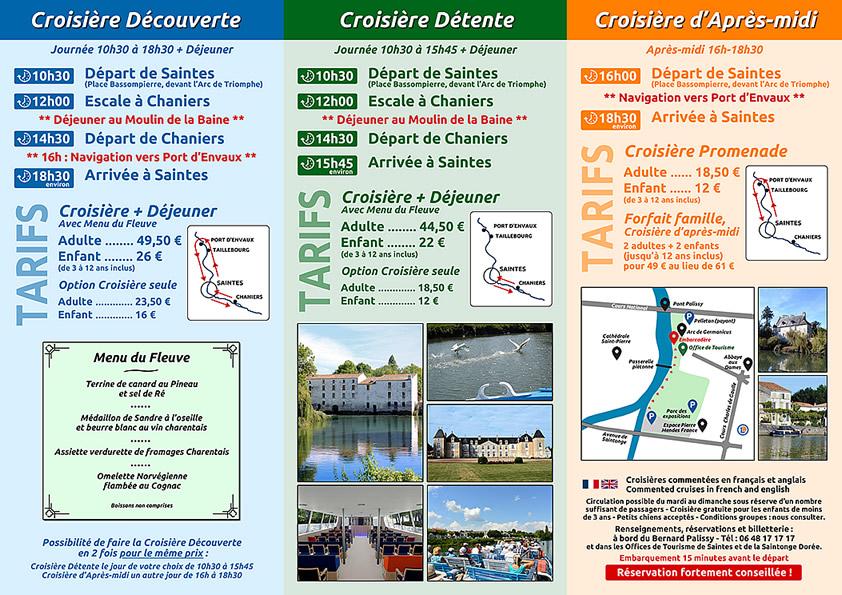 Plaquette croisières verso 2018