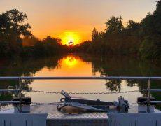 coucher de soleil sur la Charente